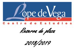 Reserva de plaza 2018-2019